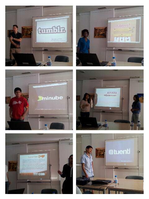 Exposición de los alumnos del 2º Curso de Community Manager