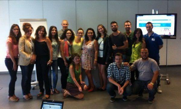 Alumnos de Aula CM con Chiara Cabrera en LCE