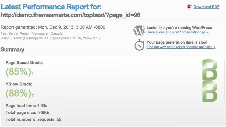 informe gtmetrix 10 Claves Imprescindibles para elegir Plantilla de Wordpress