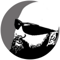 calvo con barba icono