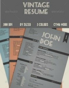CV retro 300 236x300 35 plantillas de Curriculums creativos: ¡Destaca con tu CV!