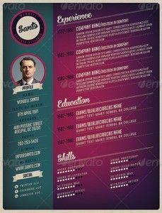 atractiva ok mini 229x300 35 plantillas de Curriculums creativos: ¡Destaca con tu CV!