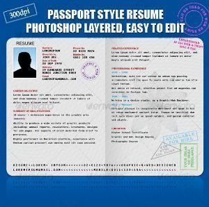 pasaporte CV mini ok 35 plantillas de Curriculums creativos: ¡Destaca con tu CV!