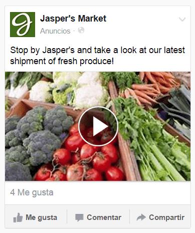 anuncios VIDEO de Facebook