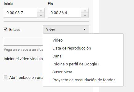 Anotaciones con enlace YouTube