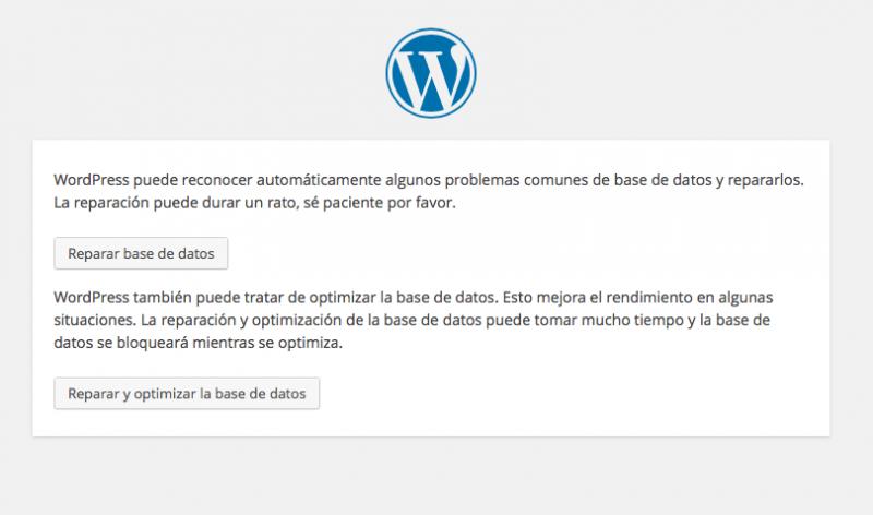 optimizar base datos wordpress maint