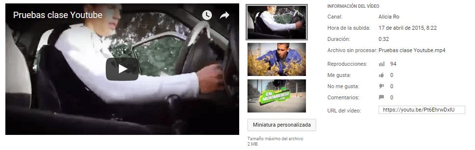 YouTube miniatura personalizada