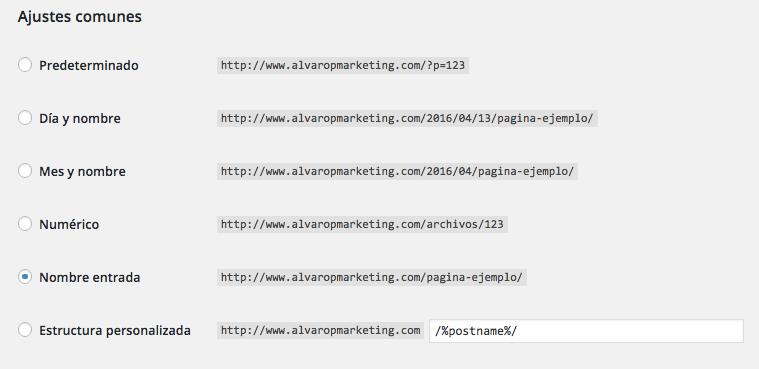 checklist diseño web urls
