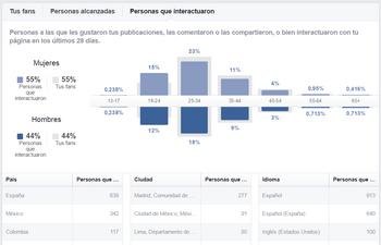 vender por internet: facebook insight