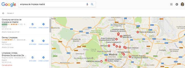 anuncios locales google maps