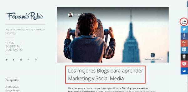 listado blogs para aumentar el tráfico web