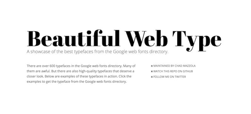 Google Fonts herramienta