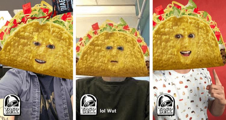 campaña taco bell snapchat