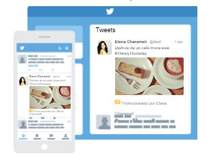 Así es la apariencia de un tweet promocionado visible en el tiimeline de los usuarios
