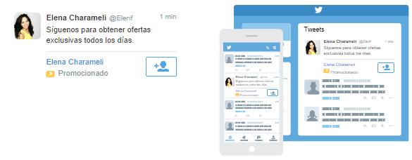 Así es la apariencia de un anuncio para conseguir nuevos seguidores en tu cuenta