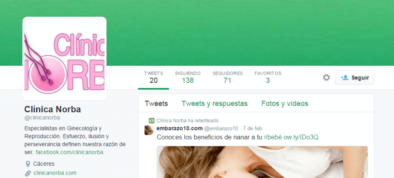Clínica Norba Twitter