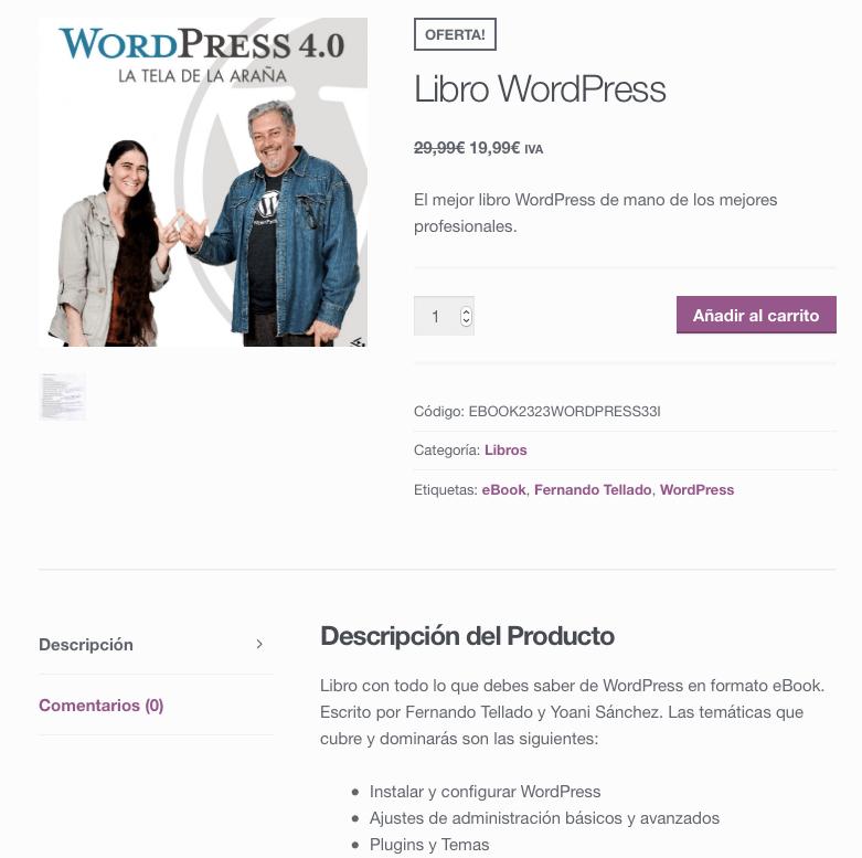 producto descargable tienda woocommerce