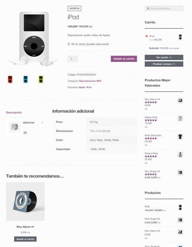 producto simple woocommerce