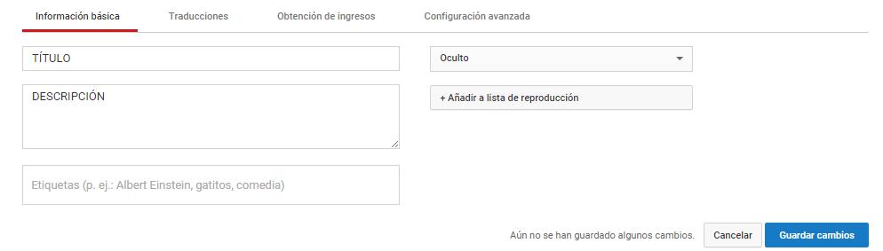 YouTube información básica