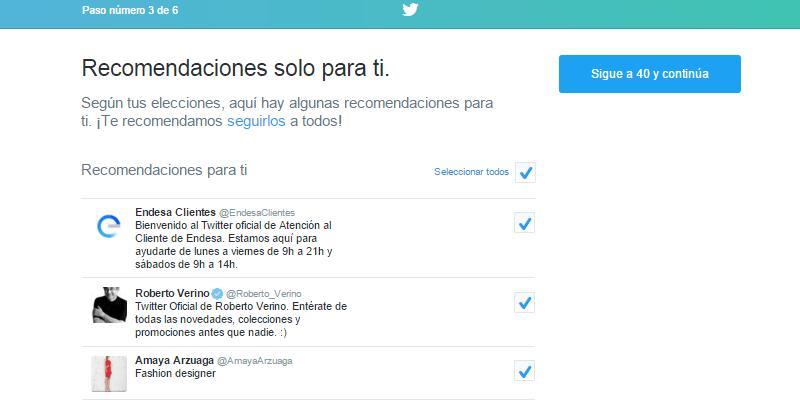 Creación de una cuenta en Twitter