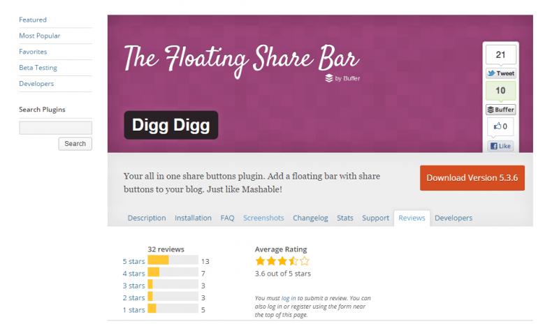 Actualmente, Digg Digg es usada por más de 80.000 usuarios