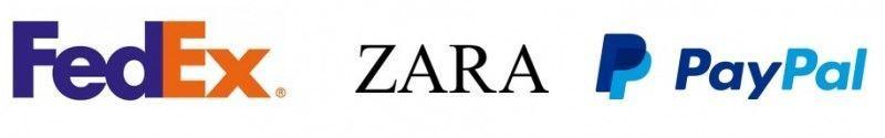 Logos Zara Fedex Paypal