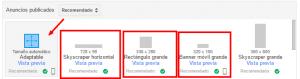 bloques de anuncios recomendados