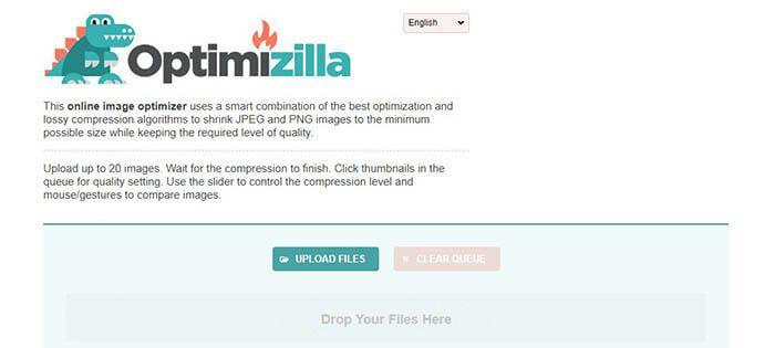 reducir el tamaño de las fotos con optimizilla
