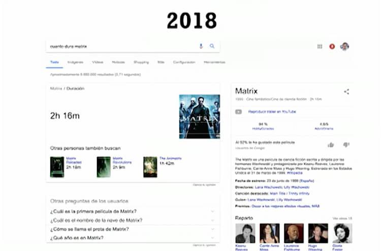 Evolución de la experiencia de usuario - ejemplo 2018