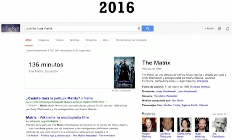 Evolución de la experiencia de usuario - ejemplo 2016